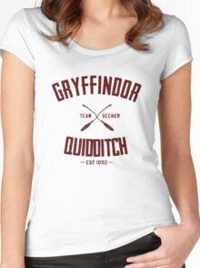 Gryffindor quidditch Women's Fitted Scoop T-Shirt