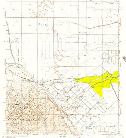 USGS TOPO Map California CA Tupman 301000 1954 24000 geo Sticker