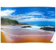 Lumaha'i Beach, Kauai Poster