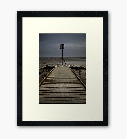 Lytham seafront at dusk Framed Print