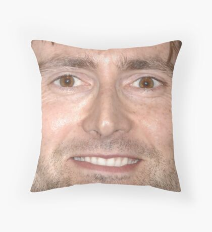 David Tennant Face Throw Pillow Throw Pillow
