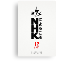 Welcome to the NHK - Japanese Design Canvas Print