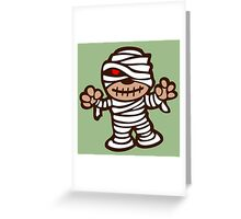 momie mummy cartoon horror show Greeting Card