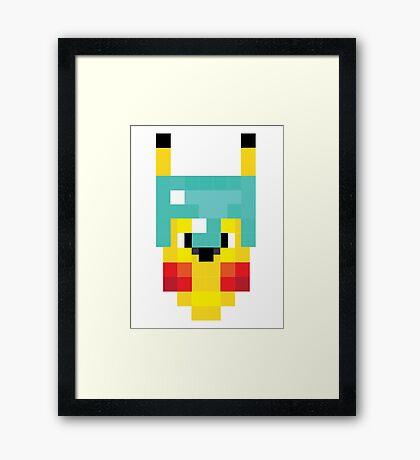 Pixel PokeCraft Framed Print