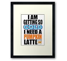 Pumpkin Latte Framed Print