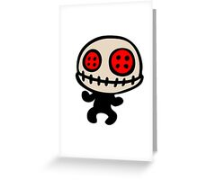 voodoo doll cartoon Greeting Card