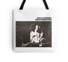 Patti Smith Gender Is A Drag  Tote Bag