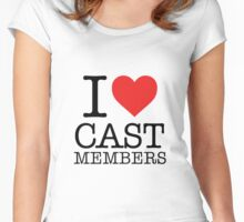 Cast Members Women's Fitted Scoop T-Shirt