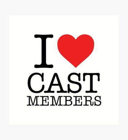 Cast Members Art Print