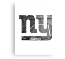 New York Giants Stadium Black and White Metal Print
