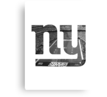 New York Giants Stadium Black and White Canvas Print