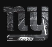 New York Giants Stadium Black and White by Josh Eisenmann