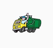 Garbage Truck Driver Waving Cartoon Unisex T-Shirt