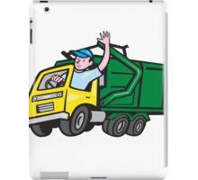 Garbage Truck Driver Waving Cartoon iPad Case/Skin