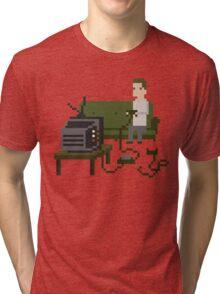 Gamer Pixel Art Tri-blend T-Shirt