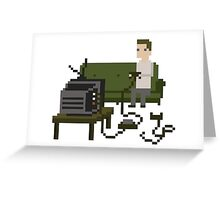 Gamer Pixel Art Greeting Card