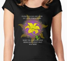 Flower, gleam and glow Women's Fitted Scoop T-Shirt
