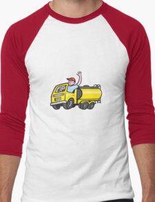 Tanker Truck Driver Waving Cartoon  T-Shirt