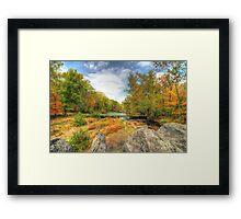 Autumn At The Creek - Green Lane - Pennsylvania - USA Framed Print