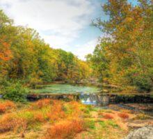 Autumn At The Creek - Green Lane - Pennsylvania - USA Sticker