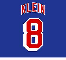 New York Rangers Kevin Klein Jersey Back Phone Case by Russ Jericho