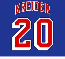 New York Rangers Chris Kreider Jersey Back Phone Case by Russ Jericho