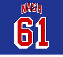 New York Rangers Rick Nash Jersey Back Phone Case by Russ Jericho