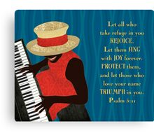 Praise and Worship Piano Player Canvas Print