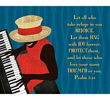 Praise and Worship Piano Player Photographic Print