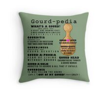 Gourd-pedia What's a Gourd Totes and Pillows Color 2 Throw Pillow