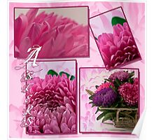 Aster Photo Collage Poster