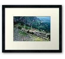 Temple of Apollo and Theatre, Delphi 1960 Framed Print