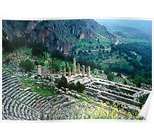 Temple of Apollo and Theatre, Delphi 1960 Poster