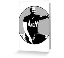 Akon evoiding ebola virus during his concert Greeting Card