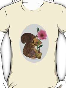 Squirrel with flower  T-Shirt