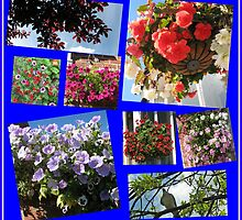 Sunny Days Floral Collage by Kathryn Jones
