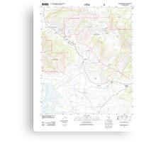 USGS TOPO Map California CA Warner Springs 20120321 TM geo Canvas Print