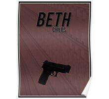 Orphan Black minimalist - Beth Childs Poster