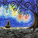 Black Kitty Haunted Tree by Amy-Elyse Neer