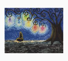 Black Kitty Haunted Tree Kids Clothes