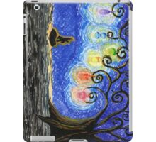 Black Kitty Haunted Tree iPad Case/Skin