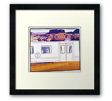 Desert Train Framed Print