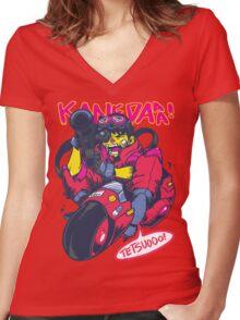 KANEDAAA! Women's Fitted V-Neck T-Shirt