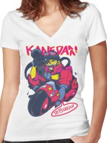 KANEDAAA! Women's Fitted V-Neck T-Shirt