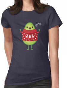 Avo Merry Christmas! Womens Fitted T-Shirt