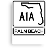 A1A - Palm Beach Canvas Print