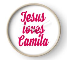 Jesus loves Camila Clock