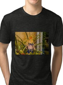SCARECROW WAITING TO HAVE FUN Tri-blend T-Shirt