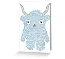 Yeti Monster Greeting Card
