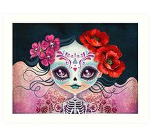Amelia Calavera - Sugar Skull Art Print